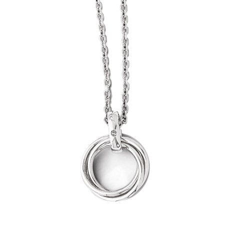 3fee385b1 925 Sterling Silver White Diamond Multiple Circle Pendant Necklace  #diamondnecklaces