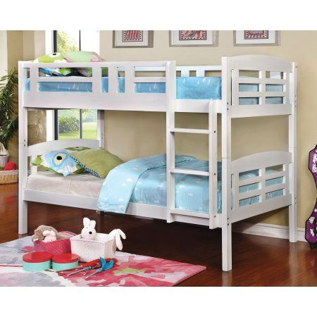 Home White Bunk Beds Wood Bunk Beds Twin Bunk Beds