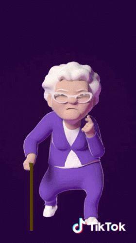 Grandma Friday Nights Alone GIF - Grandma FridayNightsAlone Moves - Discover & Share GIFs
