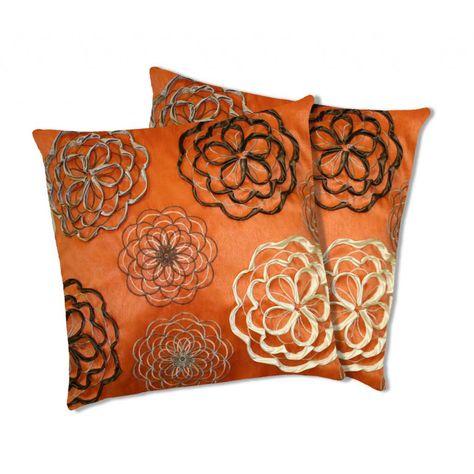 Lush Decor Covina Orange Decorative Pillows Set Of 40 Overstock Best Lush Decor Throw Pillows