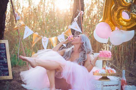 Kirsti's Golden Birthday  Adult Cake Smash
