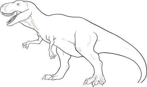 40 Desenhos De Dinossauros Para Colorir Pintar Imprimir Pintar