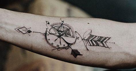 Catalogo De Tatuajes De Brujulas Significados Para Hombres