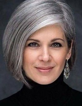 Vintage French Soul Gray Hair Highlights Hair Styles Grey Hair Color