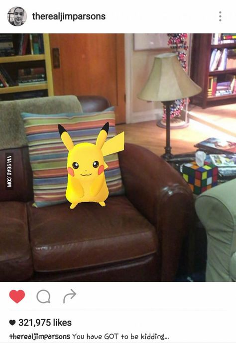 *Even pikachu doesnt get a pass* Jim Parson's (Sheldon from Big Bang Theory) instagram :))