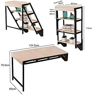 Amazon Com Desk Wall Mounted Table Fold Out Convertible Storage Rack Shelf Home Offic In 2020 Wall Mounted Dining Table Wall Mounted Table Furniture For Small Spaces