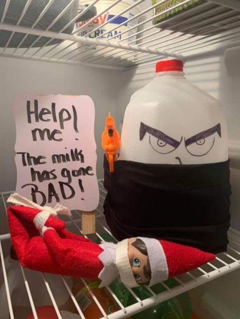 Elf Ideas Easy, Awesome Elf On The Shelf Ideas, Elf On Shelf Funny, Shelf Elf, Christmas Ideas, Noel Christmas, All Things Christmas, Christmas Humor, Elf Auf Dem Regal