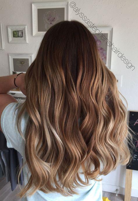 Milk Chocolate Honey Blonde Bronde Balayage Hair Color | Alyssa
