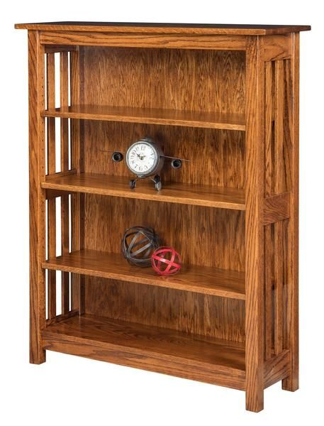 Amish Spring Dale Shaker Open Bookcase In 2020 Open Bookcase