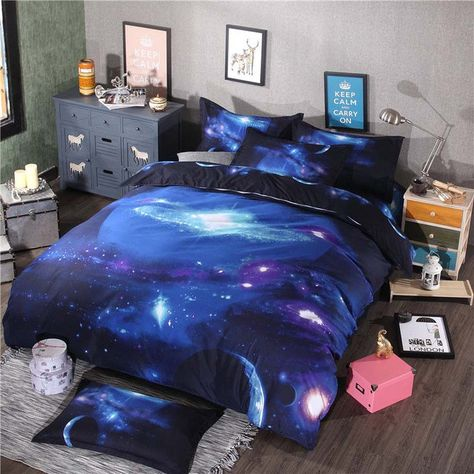 Hot 3D Galaxy Duvet Cover with Pillow