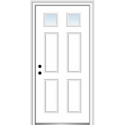 Verona Home Design Fibreglass Smooth 2 1 4 Lite 4 Panel Clear Glass Single Entry Door In 2020 House Design Prehung Doors