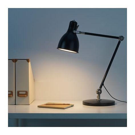 ARÖD Work lamp with LED bulb dark gray anthracite   Work
