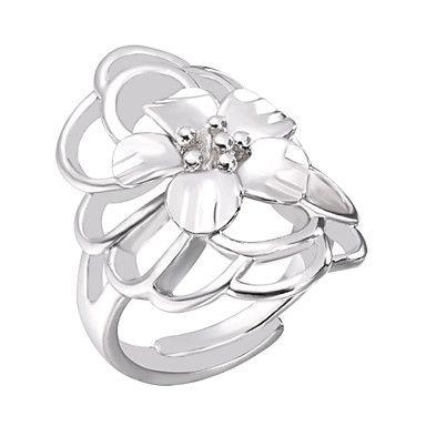 Pentru femei Inel Inel deschis Inel reglabil 1 buc Auriu Argintiu Alamă Simplu Casual / sportiv Modă Zilnic Bijuterii Floare