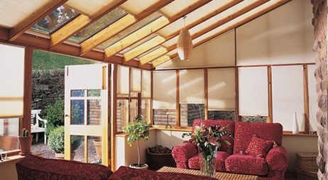 Conservatory ideas Duette energy saving conservatory blinds