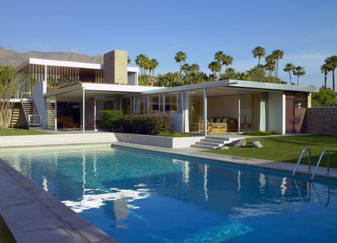 Kaufmann House Richard Neutra Palm Springs Ca Maison