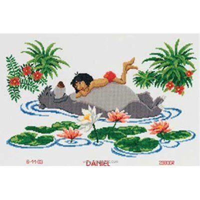 Point De Croix Naissance Mowgli Et Baloo Le Livre De La