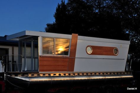 Poland Luxury Shantyboat House Boats Pinterest Poland - Modern custom houseboat graphics