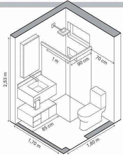 Useful Standard Dimensions For Home Furniture Engineering Discoveries In 2020 Small Bathroom Layout Bathroom Layout Small Bathroom