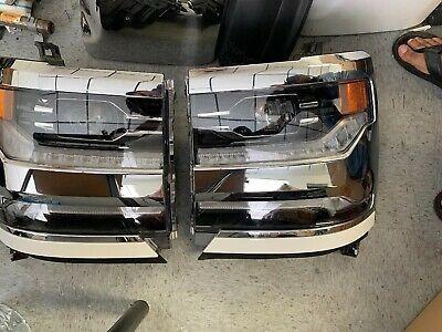 Chevrolet Silverado Hid Xenon Headlight Lh Rh Oem 2016 2018