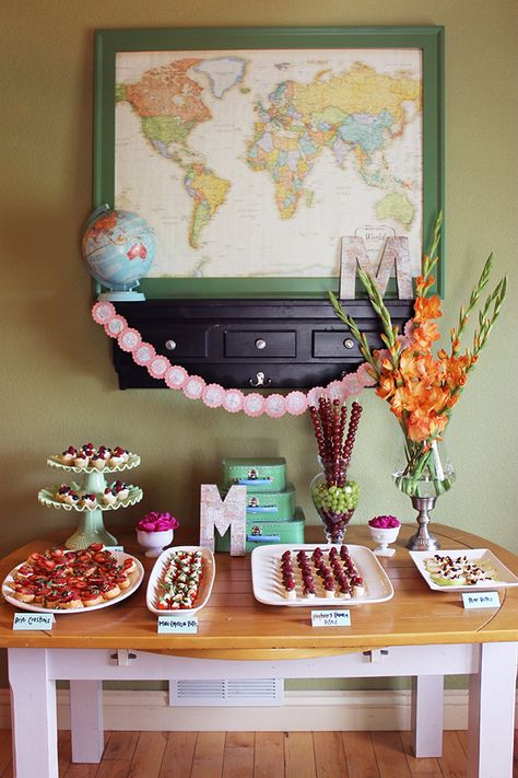 """""""Welcome to the World"""" baby shower.  This would have been so cute when my grandaughter arrived from China.  It would also be cute for anyone adopting outside of the USA"""