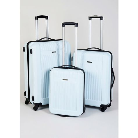 b679cbe50 ABS Hardshell 4 Wheel Suitcase (RRP 50 70) ($71) ❤ liked on Polyvore  featuring bags and luggage