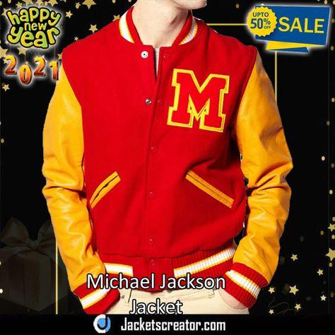Thriller Red Wool Letterman Michael Jackson Varsity Jacket Jackets Creator In 2021 Letterman Jacket Michael Jackson Jacket Varsity Jacket