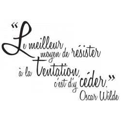 Sticker La Tentation De Wilde Citation Texte Citation Stickers