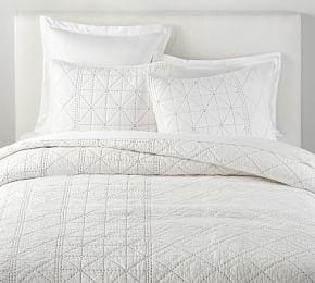 The Emily Meritt Folk Dot Tumbled Organic Cotton Duvet Cover