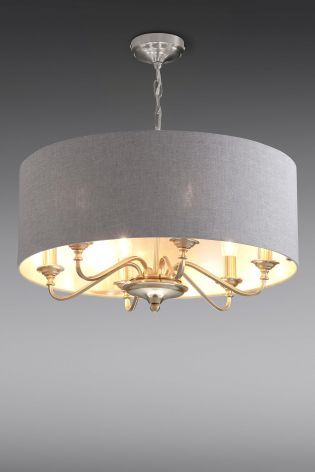 Next Burford 6 Light Chandelier Brass | Lounge ceiling