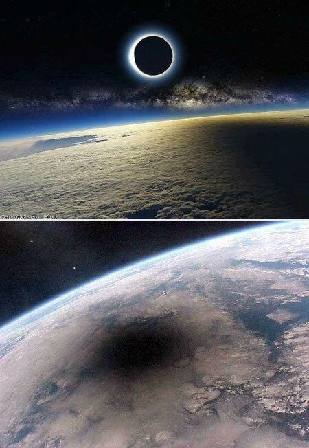 What A Solar Eclipse Looks Like From Space Amazing Science is part of Earth from space Ever wondered what the Earth looks like from space during a solar eclipse Well, these amazing images show -