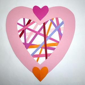 Amazonbasteln Herz Tonpapierstreifen Muttertag Muttertag