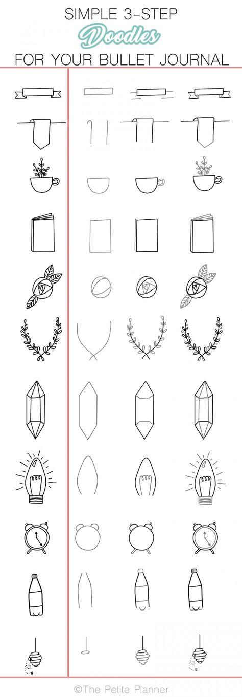 11 Simple Planner Doodles Tutorial for Beginners - The Petite Planner