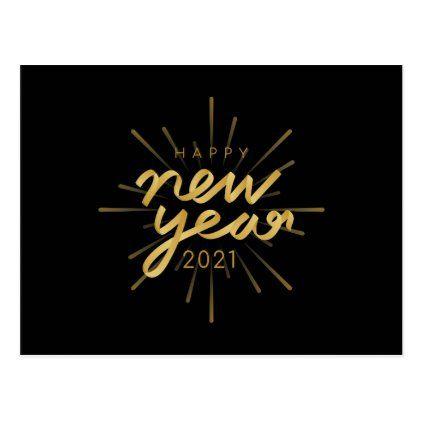 Happy New Year 2021 Postcard Zazzle Com In 2020 Happy New Year Logo Happy New Happy New Year