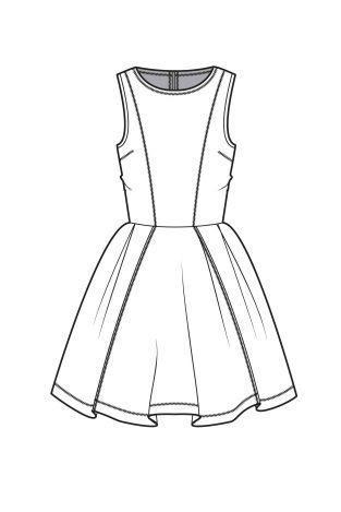 Kleider Zeichnen Vorlage Clothes Design Fashion Sketches Fashion