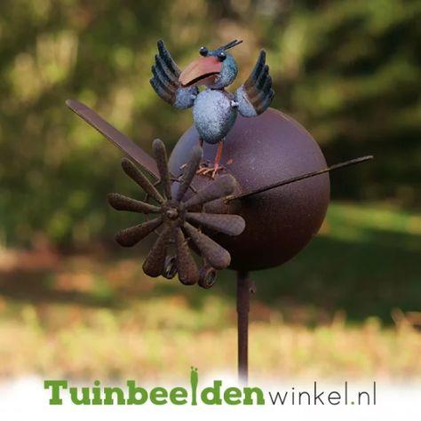 Het Kleine Vogeltje Tbw17032me Metalen Tuinbeelden Tuinbeeld Metaal