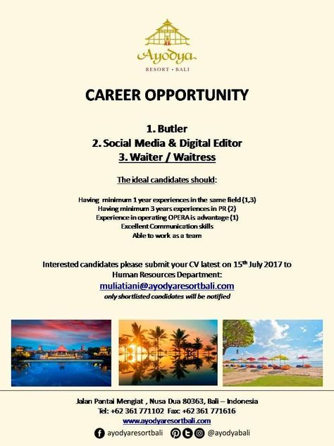 Aston Cirebon Jobs News March   Hotelier Indonesia Jobs  Hot