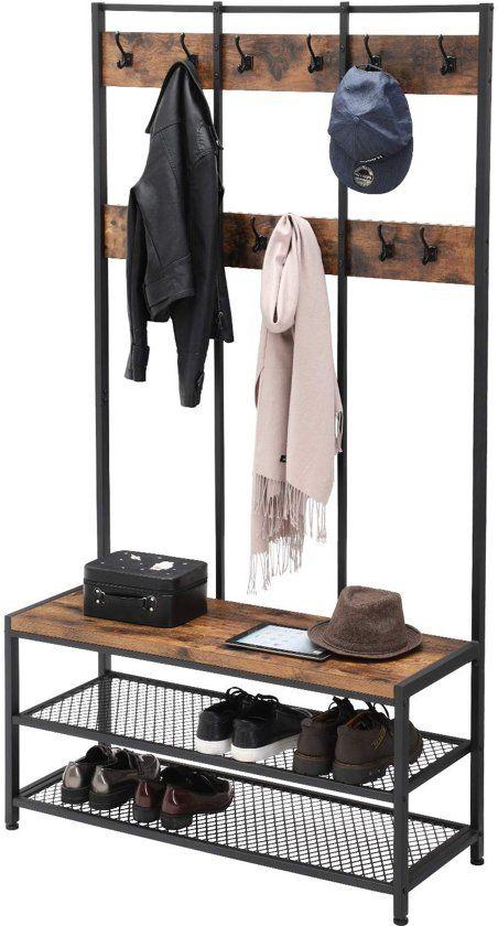 Xxl Industrieel Design Garderoberek Kapstok Rek Met 12 Kleding