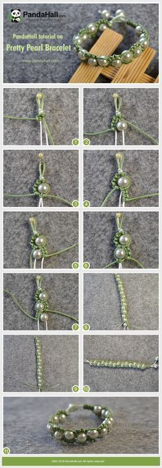 #PandaHall ideas on making Pretty Pearl Bracelet