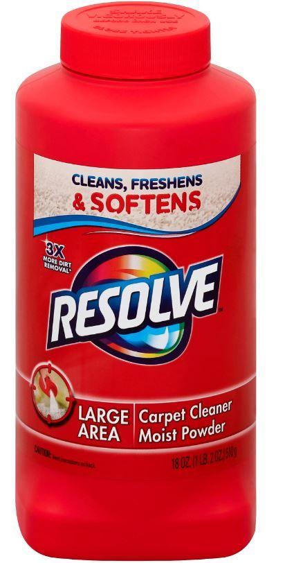 Resolve Carpet Cleaner Moist Powder Sds