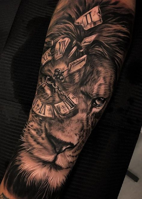 List Of Pinterest Male Lion Tattoo Sleeve Big Cats Pictures