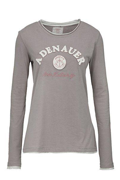 Adenauer Co Damen Shirt Langarmshirt Linda is, Farbe: Taupe