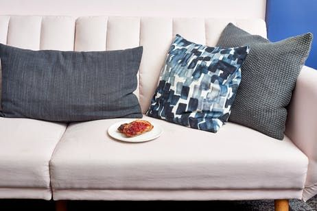 The Best Way To Clean Up Food Stains From Any Couch Clean Sofa Sofa Pillows Clean Couch