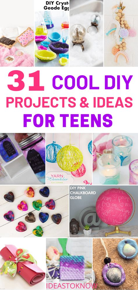 31 Cool DIY Project Ideas for Teens to Make this Summer