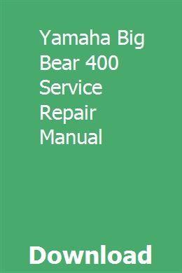 big bear 400 wiring diagram yamaha big bear 400 service repair manual repair manuals  yamaha  big bear 400 service repair manual
