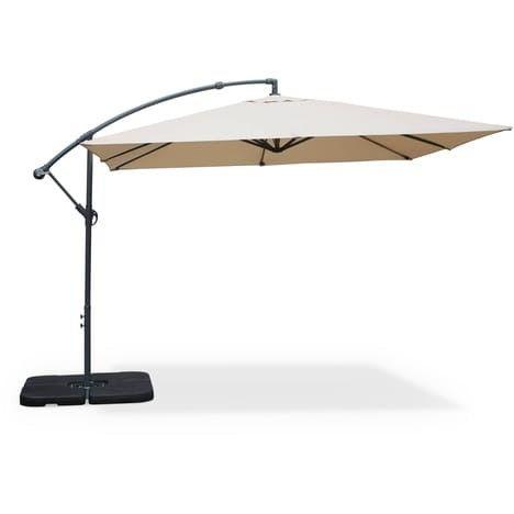 Solenzara Bulle Gris Parasol Led Déporté 3x3m Concept