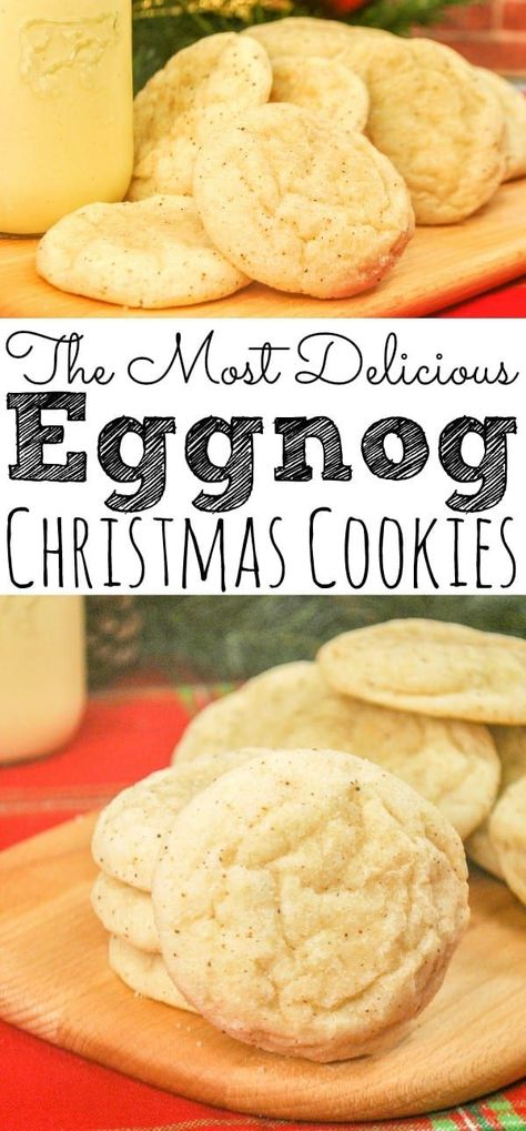 Check out The Most Delicious Eggnog Cookies that are also easy to make! & simply& [& The post Check out The Most Delicious Eggnog Cookies that are also easy to make! & simply& appeared first on Trending Hair styles. Eggnog Cookies, Holiday Cookies, Holiday Desserts, Holiday Baking, Holiday Recipes, Easy Christmas Cookies, Christmas Cookie Recipes, Shortbread Cookies, Easy Cookie Recipes