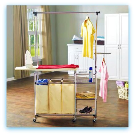 Mobile Ironing Station Just Wheel It Where You Need It Features