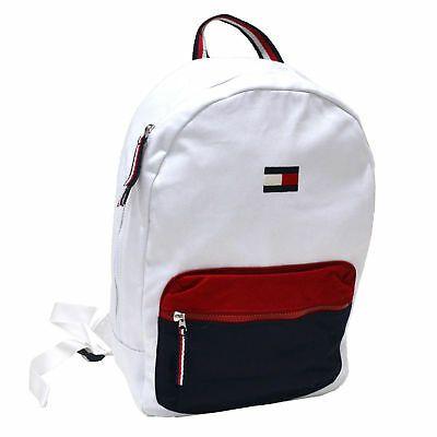 Tommy Hilfiger Backpack Canvas Book Bag School Travel Colorblock Unisex Ebay Backpacks Bags Tommy Hilfiger Bags