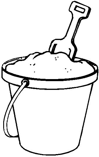Bucket and Shovel Coloring Page | pool | Pinterest | Buckets, Blues ...