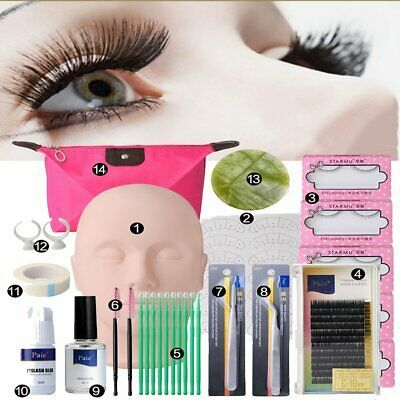 Details About Zinnor Makeup Mannequin Head Set Professional Eyelash Extensions Practice Set 3 In 2020 Eyelash Extensions Eyelash Tools